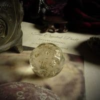 'Chandra' Czech Crystal Fortune Telling Ball Die or Dice (Large) Ball Die